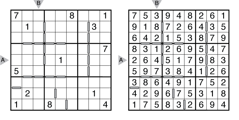 Example Consecutive Sudoku and solution