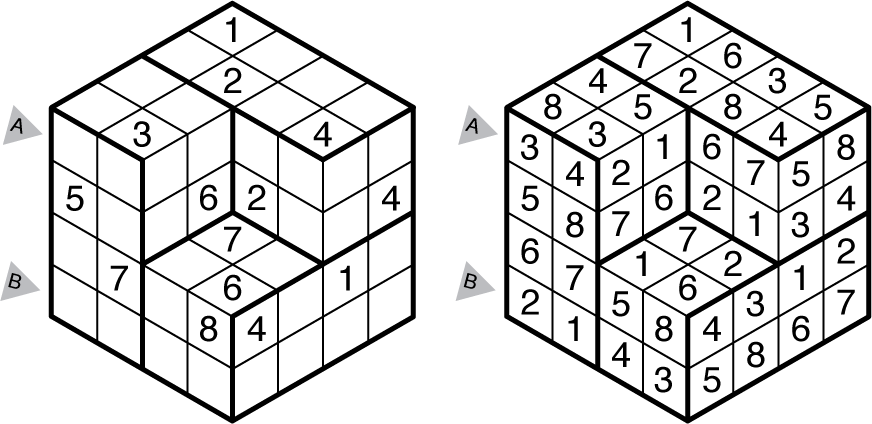 Example Isodoku and solution