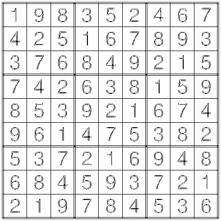 Solution to Sudoku by Thomas Snyder