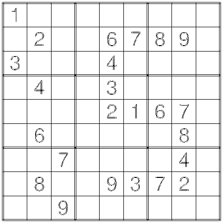 Hard Sudoku by Thomas Snyder