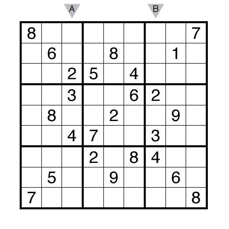 Hard Sudoku by Thomas Snyder