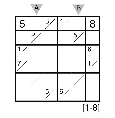 Tight Fit Sudoku (1-8) by Thomas Snyder