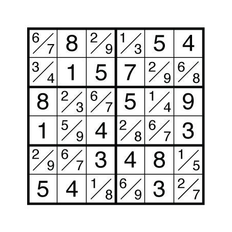 Solution to Tight Fit Sudoku by Thomas Snyder