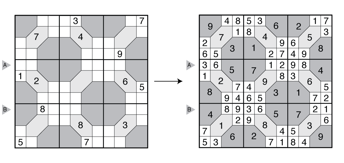 Example Tile Sudoku and solution