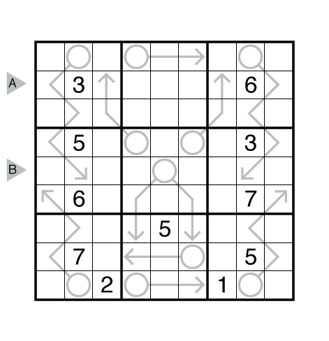 Arrow Sudoku by Serkan Yürekli