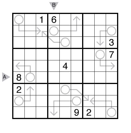 Arrow Sudoku by Murat Can Tonta