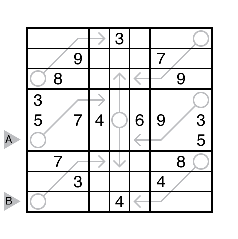 Arrow Sudoku by Rajesh Kumar