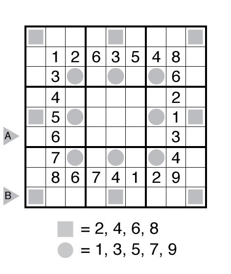 Even Odd Sudoku by Ashish Kumar