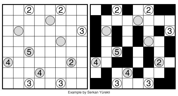 Kurotto (Connections) example by Serkan Yürekli