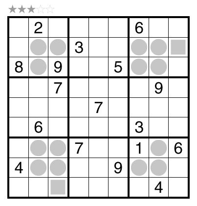 Even/Odd Sudoku by Wei-Hwa Huang